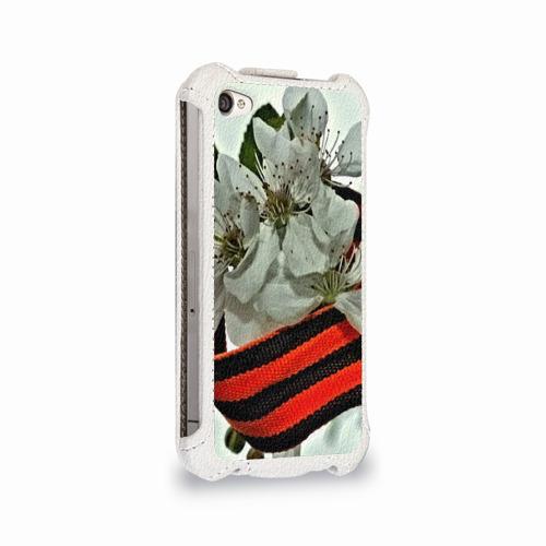 Чехол для Apple iPhone 4/4S flip  Фото 02, Георгиевская лента