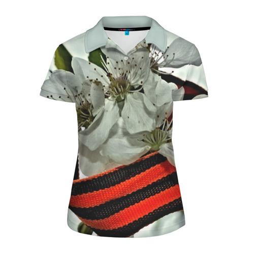 Женская рубашка поло 3D  Фото 01, Георгиевская лента