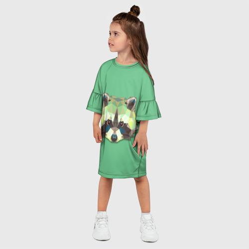 Детское платье 3D  Фото 03, Енот