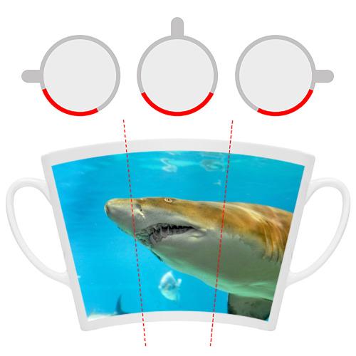 Кружка Латте  Фото 06, Тигровая акула