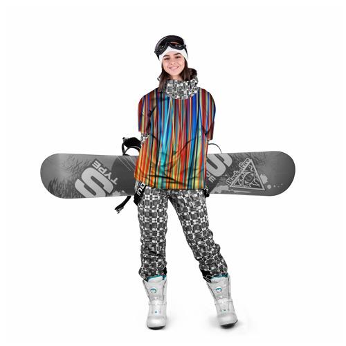 Накидка на куртку 3D  Фото 05, Colored stripes