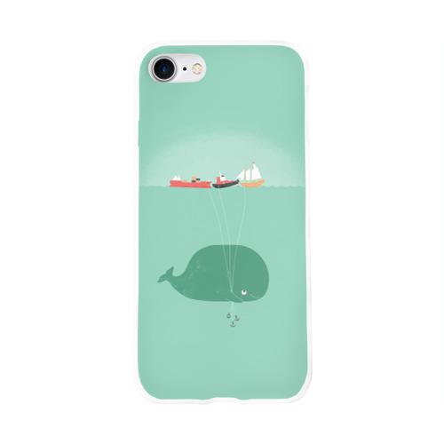 Чехол для Apple iPhone 8 силиконовый глянцевый  Фото 01, Кит с корабликами