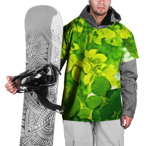 Накидка на куртку 3D  Фото 01, Зелёные листья