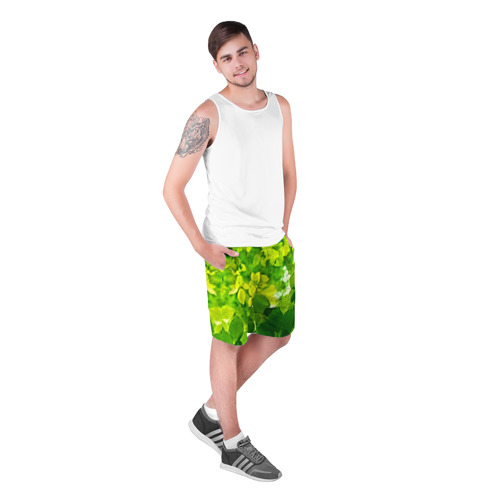 Мужские шорты 3D  Фото 03, Зелёные листья