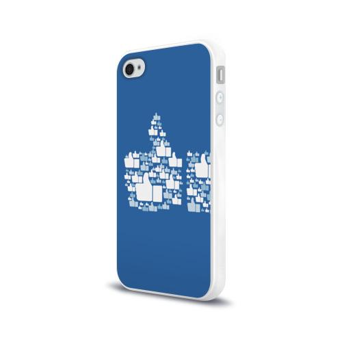 Чехол для Apple iPhone 4/4S силиконовый глянцевый Лайк Фото 01