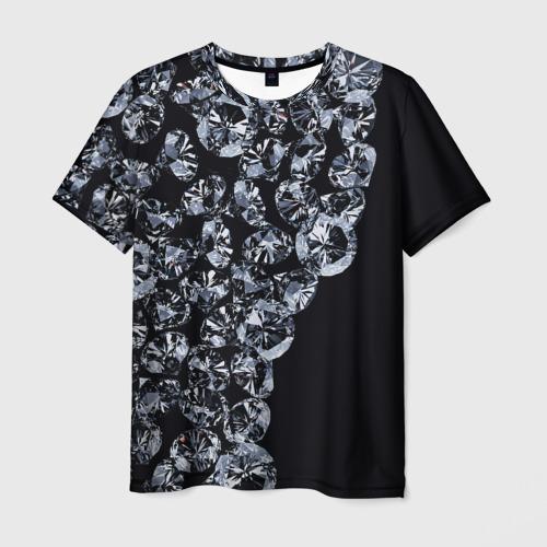 Мужская футболка 3D  Фото 01, Алмазы