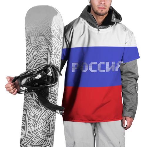 Накидка на куртку 3D  Фото 01, Флаг России с надписью