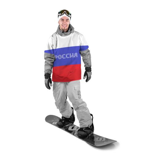 Накидка на куртку 3D  Фото 03, Флаг России с надписью