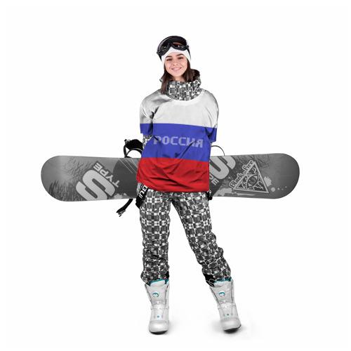 Накидка на куртку 3D  Фото 05, Флаг России с надписью