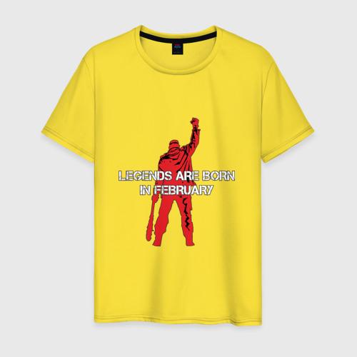 Мужская футболка хлопок Legends are born in February Фото 01