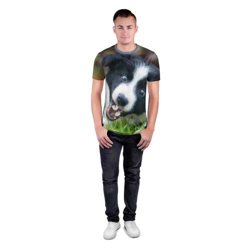 Мужская футболка 3D спортивная Цветочек Фото 01