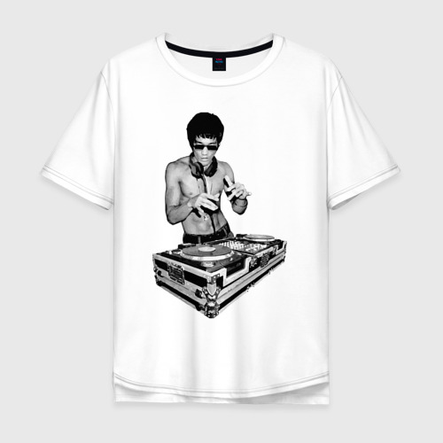 Мужская футболка хлопок Oversize Брюс Ли Dj Фото 01