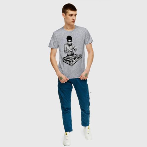 Мужская футболка хлопок Брюс Ли Dj Фото 01