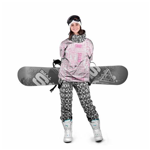 Накидка на куртку 3D  Фото 05, Газета Silena Sway бело-розова