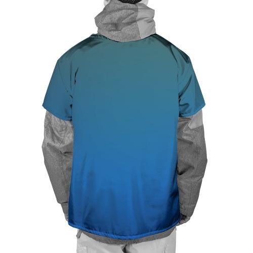 Накидка на куртку 3D  Фото 02, Синий дракон