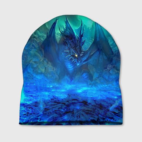 Шапка 3D  Фото 01, Синий дракон
