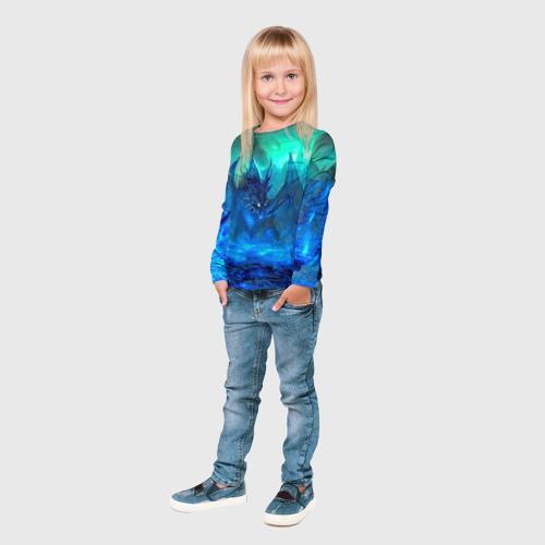 Детский лонгслив 3D Синий дракон Фото 01
