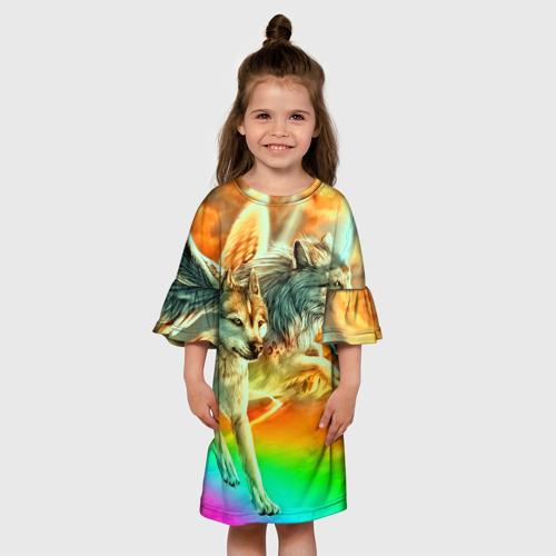 Детское платье 3D  Фото 01, Волки