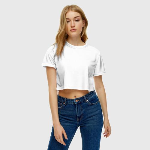 Женская футболка 3D укороченная  Фото 04, Агент охраны труда