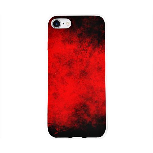 Чехол для Apple iPhone 8 силиконовый глянцевый  Фото 01, Grunge red