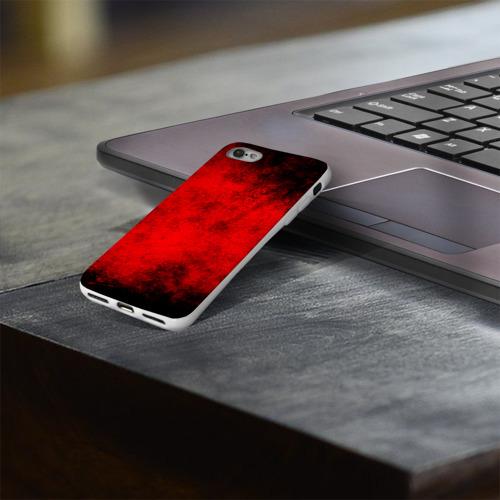Чехол для Apple iPhone 8 силиконовый глянцевый  Фото 03, Grunge red