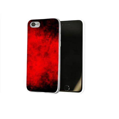 Чехол для Apple iPhone 8 силиконовый глянцевый  Фото 02, Grunge red