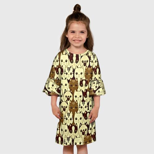 Детское платье 3D  Фото 01, Коты бомбинг