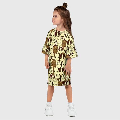 Детское платье 3D  Фото 03, Коты бомбинг
