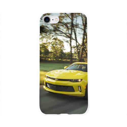 Чехол для Apple iPhone 8 силиконовый глянцевый  Фото 01, Chevrolet Camaro