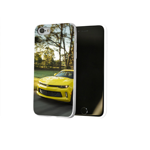 Чехол для Apple iPhone 8 силиконовый глянцевый  Фото 02, Chevrolet Camaro