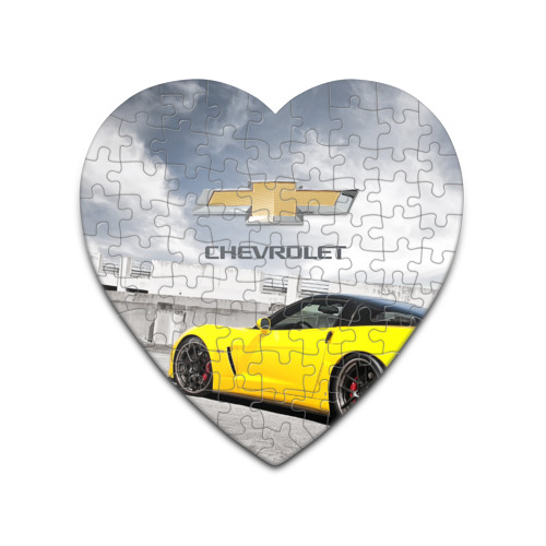 Пазл сердце 75 элементов  Фото 01, Желтый Chevrolet
