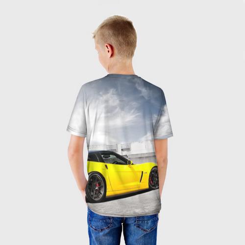 Детская футболка 3D  Фото 02, Желтый Chevrolet
