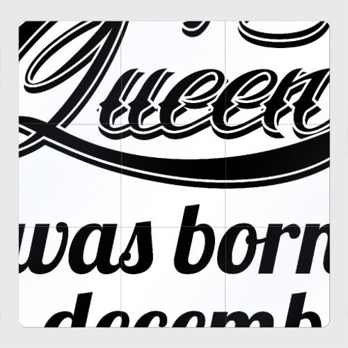 Магнитный плакат 3Х3 Королева рождена в декабре