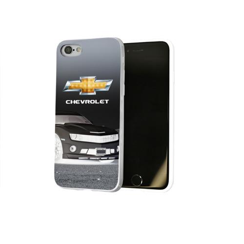 Чехол для Apple iPhone 8 силиконовый глянцевый  Фото 02, Chevrolet, ночь