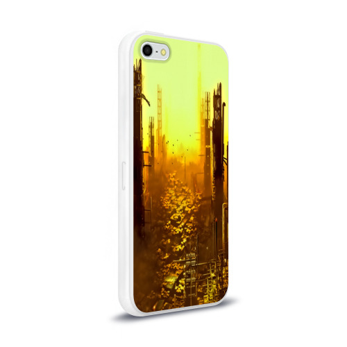Чехол для Apple iPhone 5/5S силиконовый глянцевый  Фото 02, deus ex