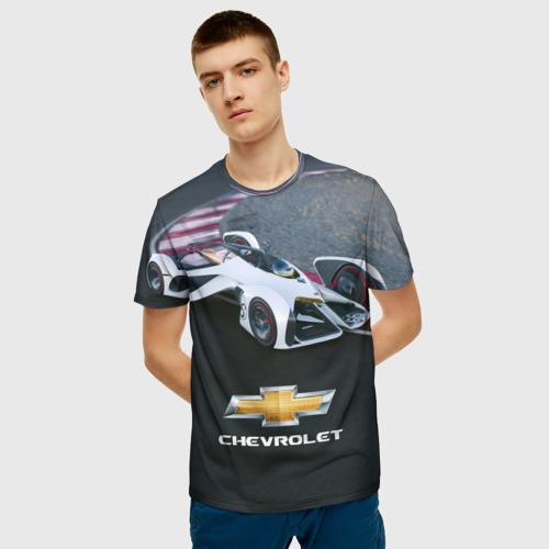 Мужская футболка 3D Болид Chevrolet Фото 01