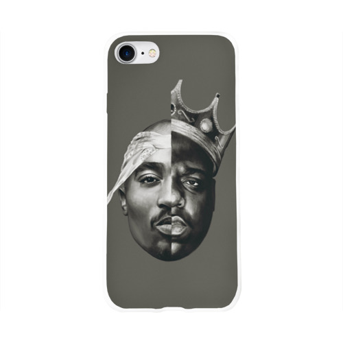 Чехол для Apple iPhone 8 силиконовый глянцевый  Фото 01, Короли хип-хопа!
