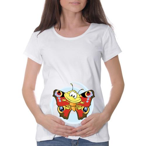 Футболка для беременных хлопок  Фото 01, Бабочка