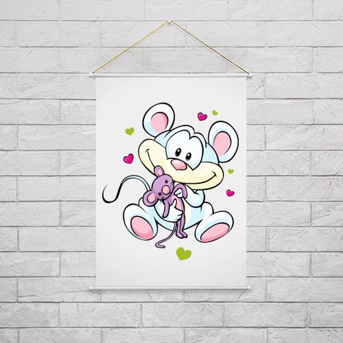 Тканевый плакат  Фото 02, Мышка