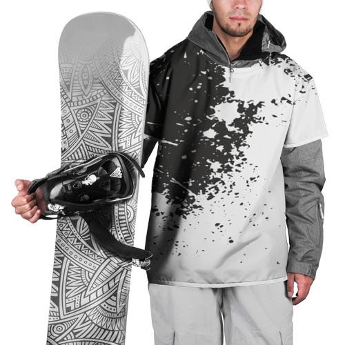 Накидка на куртку 3D  Фото 01, Чёрное-белое