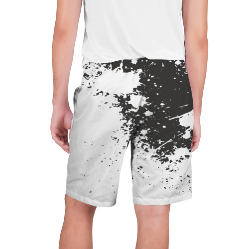 Мужские шорты 3D  Фото 02, Чёрное-белое