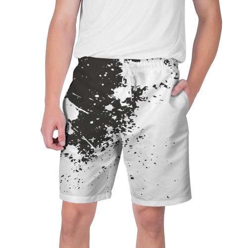 Мужские шорты 3D  Фото 01, Чёрное-белое