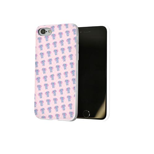 Чехол для Apple iPhone 8 силиконовый глянцевый  Фото 02, Слоники