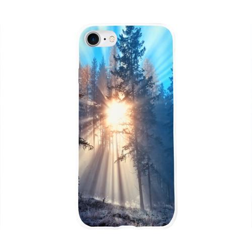 Чехол для Apple iPhone 8 силиконовый глянцевый  Фото 01, Woodland