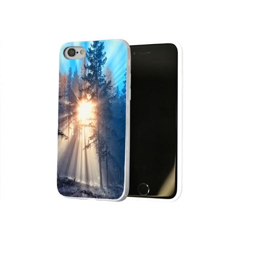 Чехол для Apple iPhone 8 силиконовый глянцевый  Фото 02, Woodland