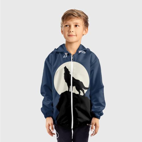 Детская ветровка 3D  Фото 03, Вой на луну