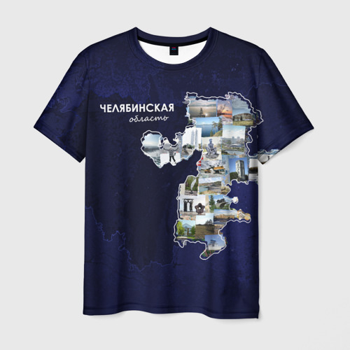 Мужская футболка 3D Челябинская область (стикер)