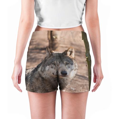 Женские шорты 3D  Фото 04, Серый волк
