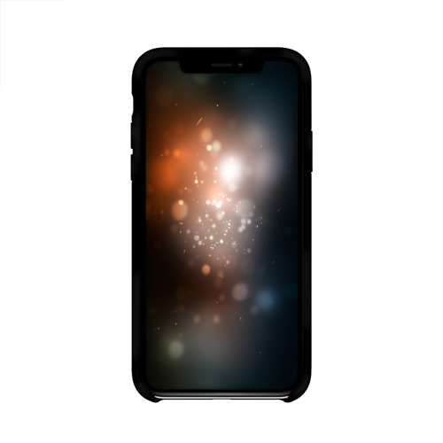 Чехол для Apple iPhone X силиконовый глянцевый  Фото 02, Черно-белый герб РФ