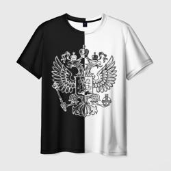 Черно-белый герб РФ